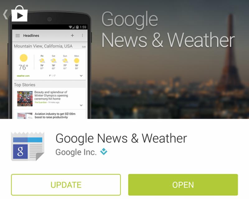 گوگل نے اپنی نیوز ایپ کو اپ ڈیٹ کر دیا
