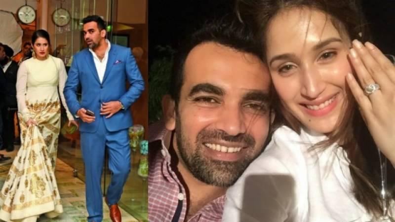 بالی وڈ اداکارہ ساگریکا گھاٹگے نے سابق بھارتی کرکٹرظہیر خان کے ساتھ منگنی کر لی