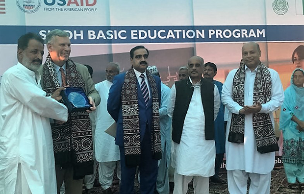 World Teachers' Day commemorated at U.S. Government-funded school in Gadap Town
