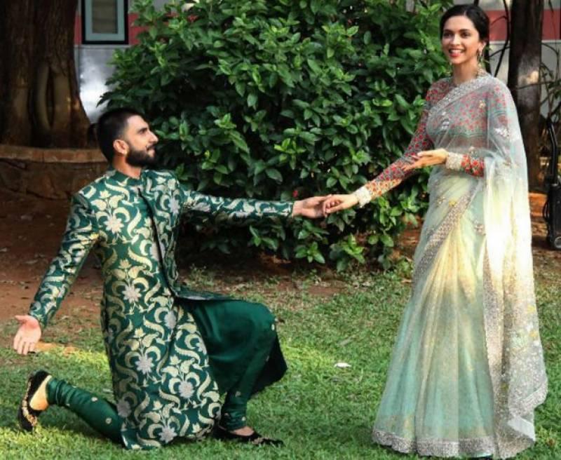 رنویر سنگھ اور دپیکا پڈوکون شادی کے بندھن میں بندھ گئے