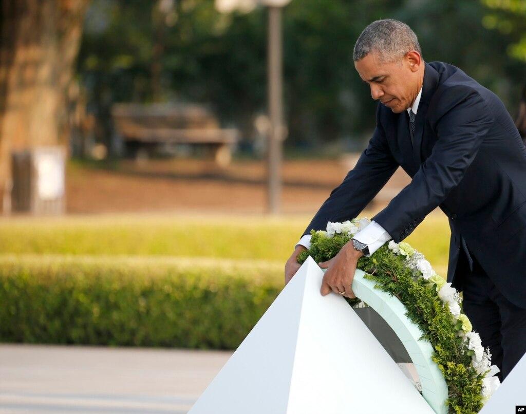 تاریخ پر نظر رکھنا ہم سب کی مشترکہ ذمہ داری ہے: اوباما کا دورہ ہیروشیما