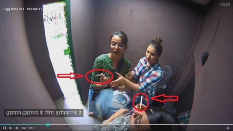 بگ باس 11 میں سگریٹ پیتی خواتین کی ویڈیو پر تنقید