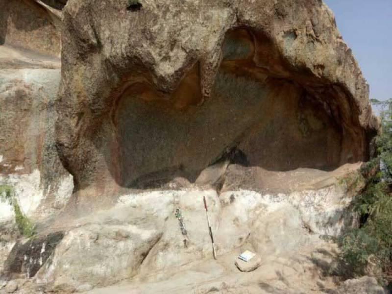 خیبرایجنسی کے غاروں کی دیواروں پر30 ہزارسال قدیم پینٹنگزکی دریافت