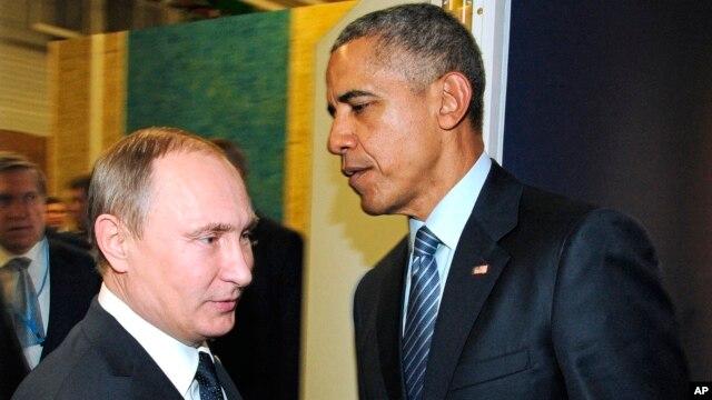 ترکی کے ساتھ کشیدگی میں کمی لائی جائے: اوباما کا پیوٹن پر زور