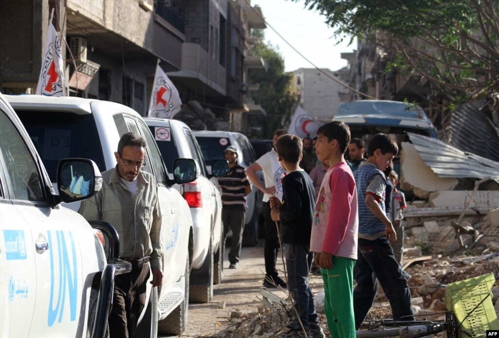 محصور شہر داریا سے باغیوں اور شہریوں کا انخلا متوقع