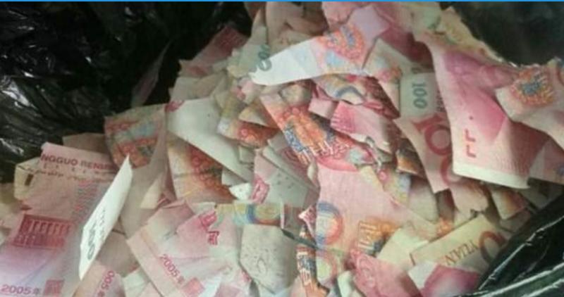 پانچ سالہ بچے ساڑھے پانچ لاکھ روپے کے نوٹ پھاڑ دیئے