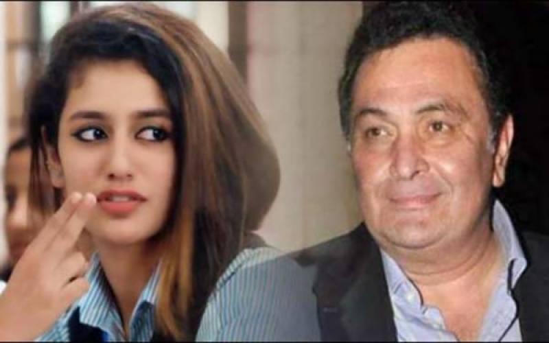 رشی کپور نے پریا پرکاش کو مستقبل کی سٹار اداکارہ قرار دیدیا