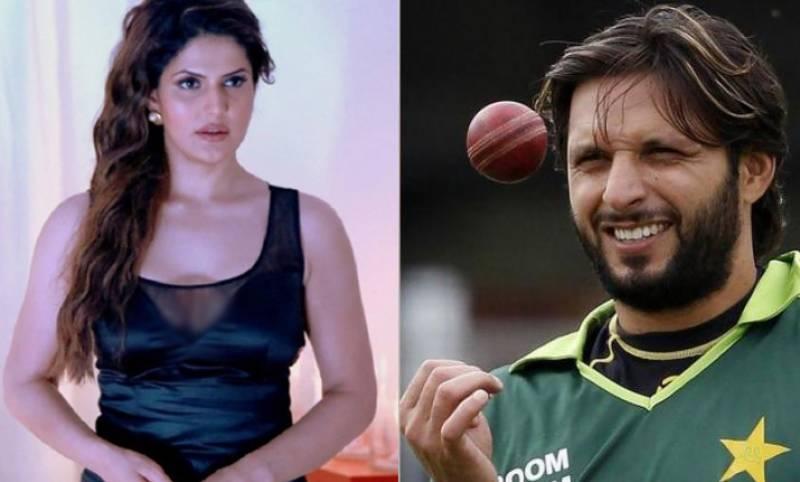 شاہد آفریدی اور زرین خان کی تصویر سوشل میڈیا پر وائرل