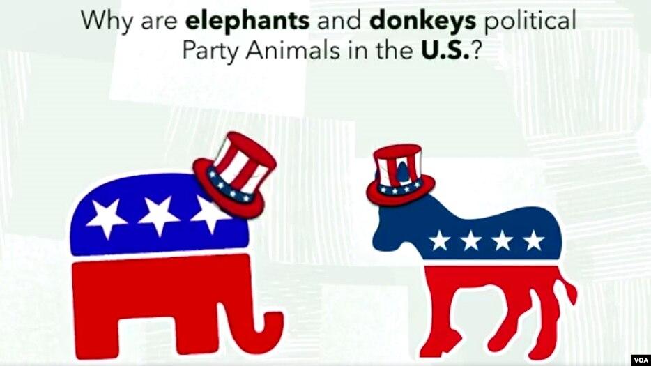 ڈیموکریٹک اور ری پبلیکن، گدھا اور ہاتھی کیوں