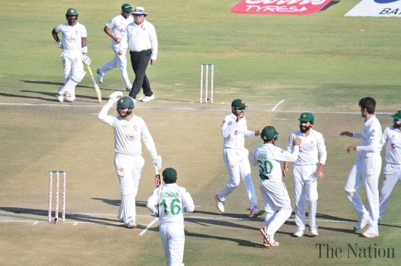 Pakistan on brink of series win after Zimbabwe implode