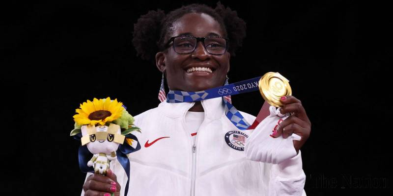 Tamyra Mensah-Stock becomes 1st Black woman athlete to win Olympic wrestling gold