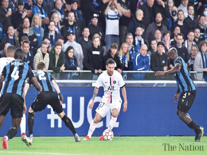 Messi's Paris St Germain disappoint in Brugge draw