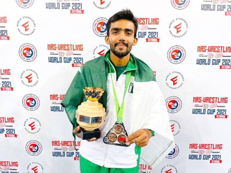 Saad wins bronze medal in World Cup Mas-Wrestling