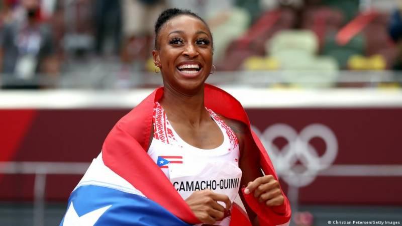Puerto Rico's Camacho-Quinn takes Olympic gold in women's 100-meter hurdles