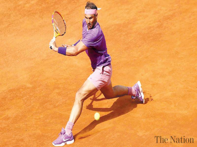 Nadal ends Opelka's run, reaches 12th Rome final