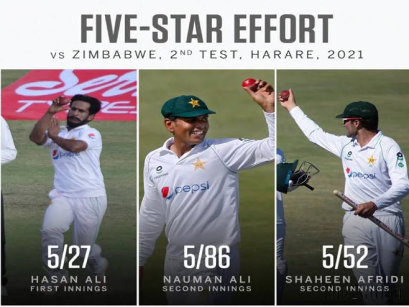 Pakistan players move up in ICC Test rankings after Zimbabwe series