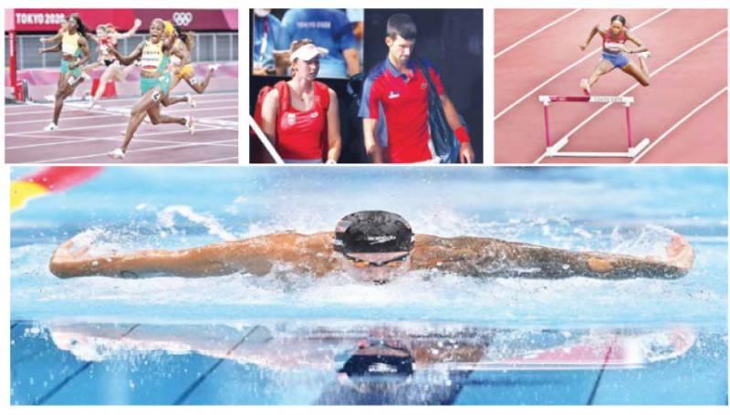 Jamaica sweep 100m podium, Djokovic leaves with nothing