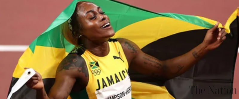 Elaine Thompson-Herah breaks Olympic record in women's 100 meters to win gold