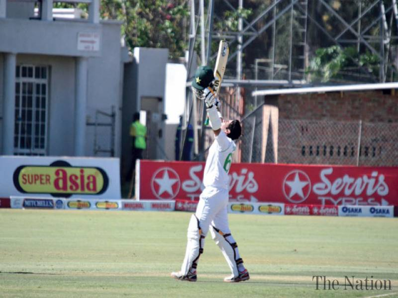 Adamant Abid dismantles Zimbabwe with maiden Test double century