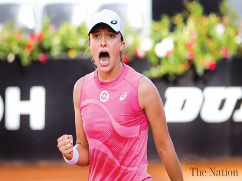 Swiatek wins twice in a day to set up Rome final with Pliskova