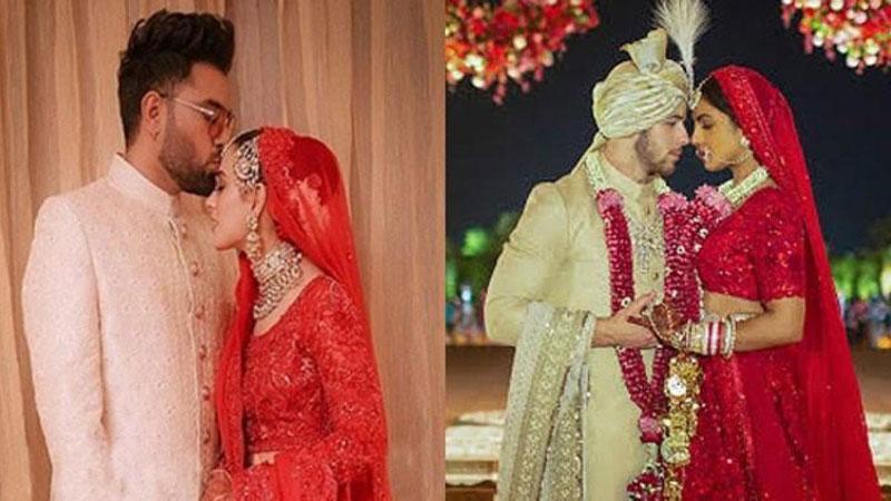 Is Iqra S Bridal Dress An Exact Replica Of Priyanka Chopra S Dailytimes Arts And Entertainment