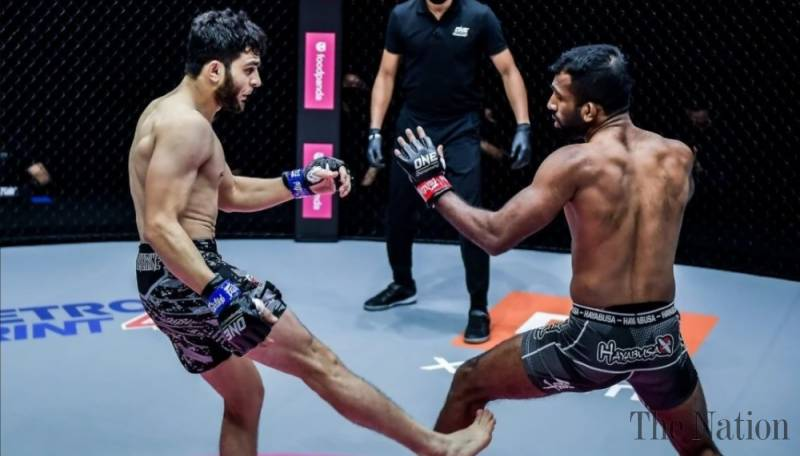 Ahmed Mujtaba knocks out India's Rahul Raju in 60 seconds