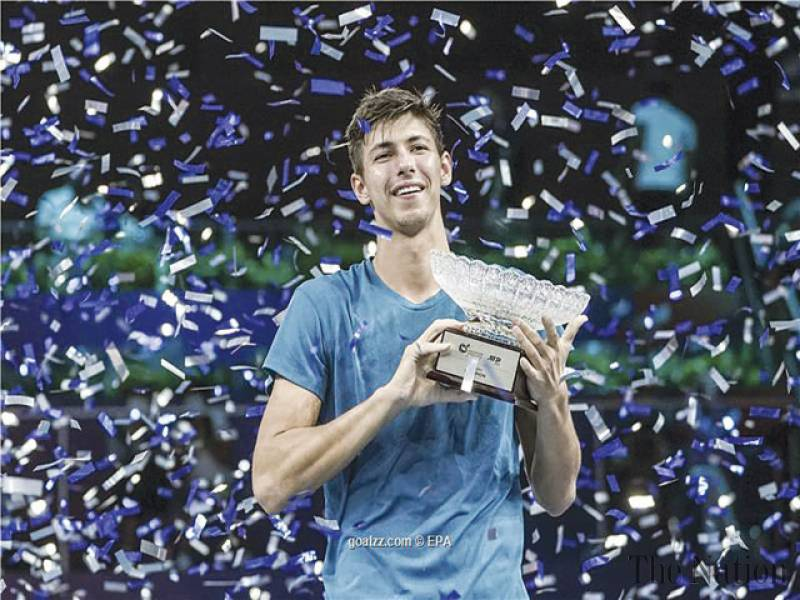 Popyrin fights back to win maiden ATP title in Singapore