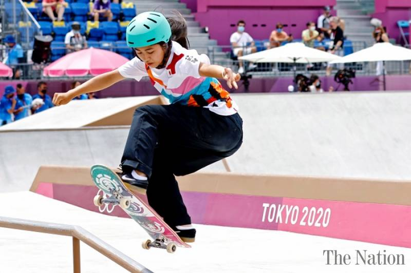 13-year-old Japanese skateboarder wins Olympic gold