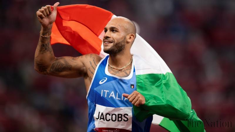Italy's Jacobs sprints to shock gold in Olympics 100-meter dash
